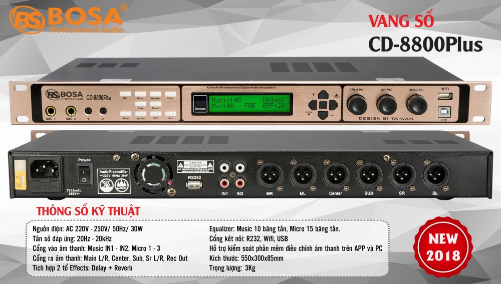 VANG SỐ BOSA CD8800 PLUS